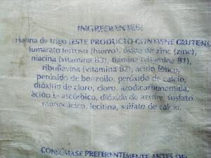 Ingredientes harina blanca 1