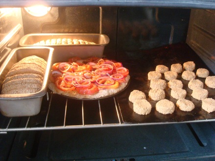 Pan pizza y galletitas